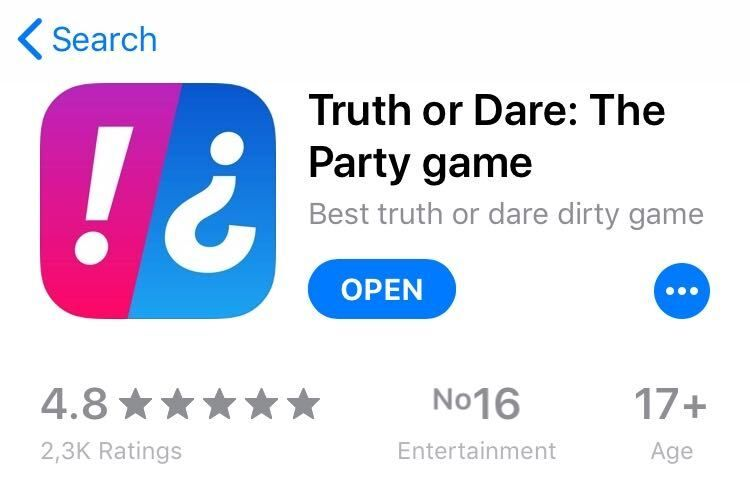 truth or dare app examples